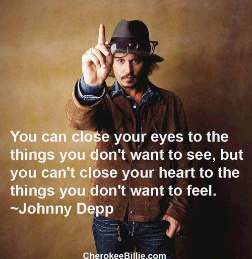 Johnny Depp Quote On Our Eyes And Our Heart | The Funny World