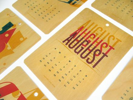 Felt & Wire Shop: A Year in Caps 2012 Typographic Calendar from Heather Lins Home
