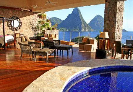 Hotels with a Jaw-Dropping View: Pitons, St. Lucia - Bing Travel