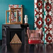 Contemporary upholstery fabric. Italian modern upstery fabric - Patterns Stripes Embroidered motifs - dedar - Milano