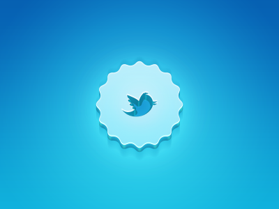 Twitter 3D badge by Lukas Majzlan