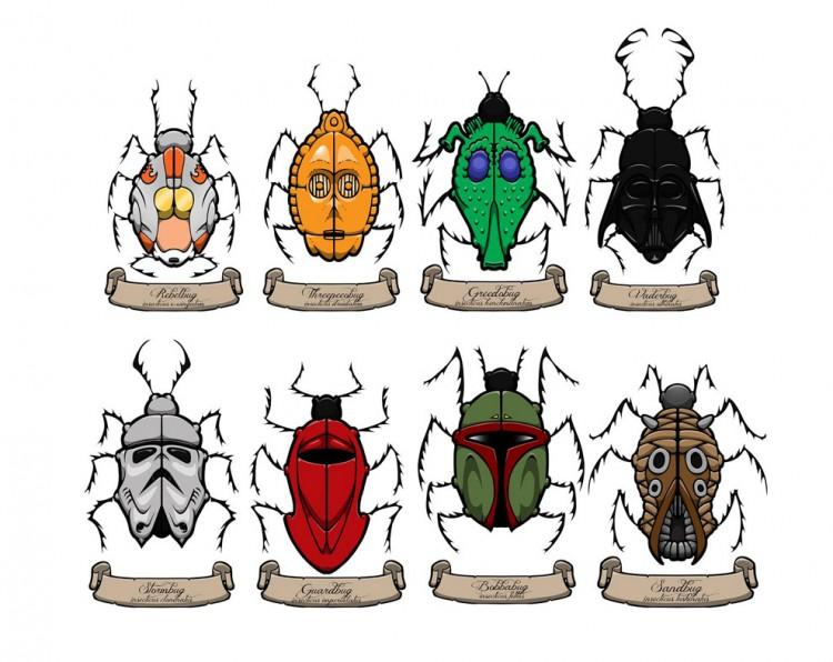 Insects Illustrated as Star Wars Characters » Design You Trust – Design and Beyond!