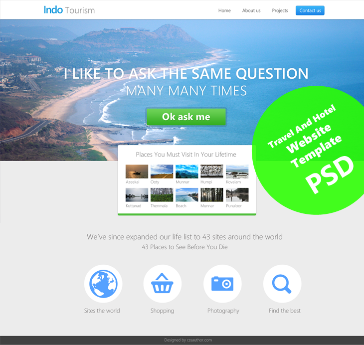 beautiful travel and hotel website template psd for free download, Powerpoint templates