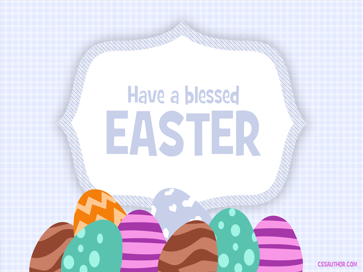 Easter Greetings Card PSD for Free Download