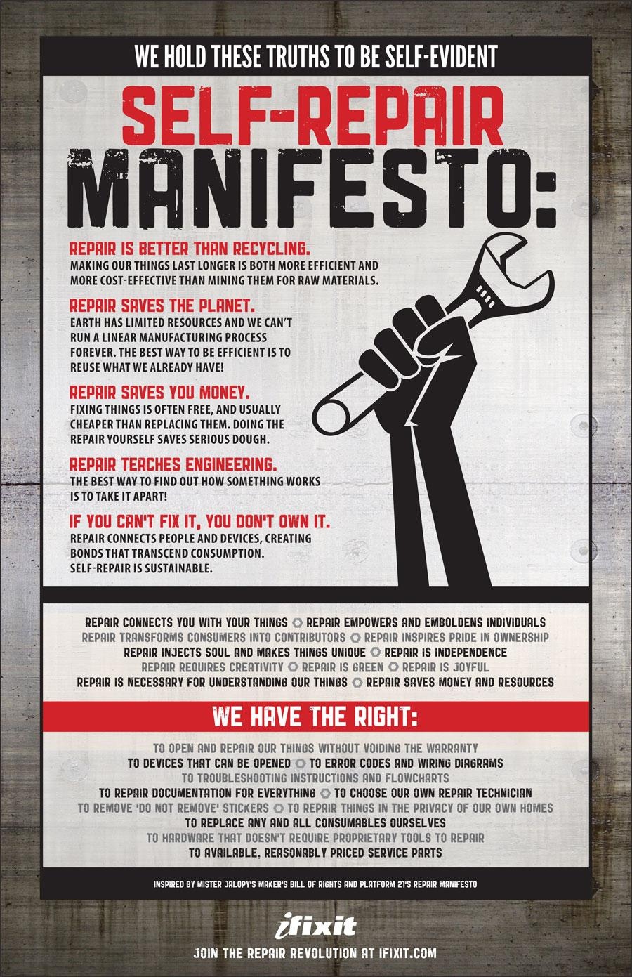 Self-Repair Manifesto - iFixit