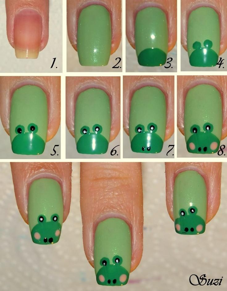 Diy frog nail design do it yourself fashion tips diy fashion diy frog nail design do it yourself fashion tips diy fashion projects solutioingenieria Choice Image