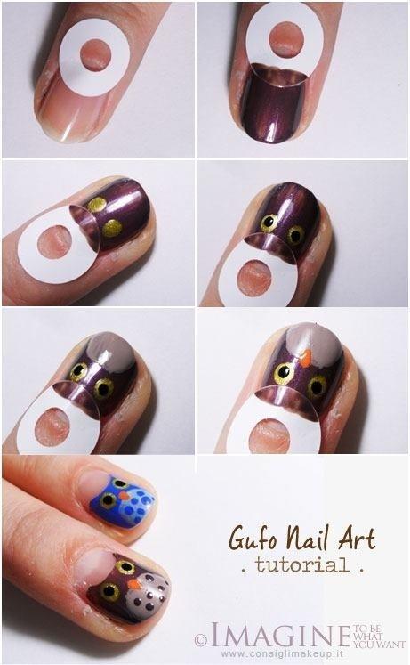 Легкий рисунок на ногтях своими руками