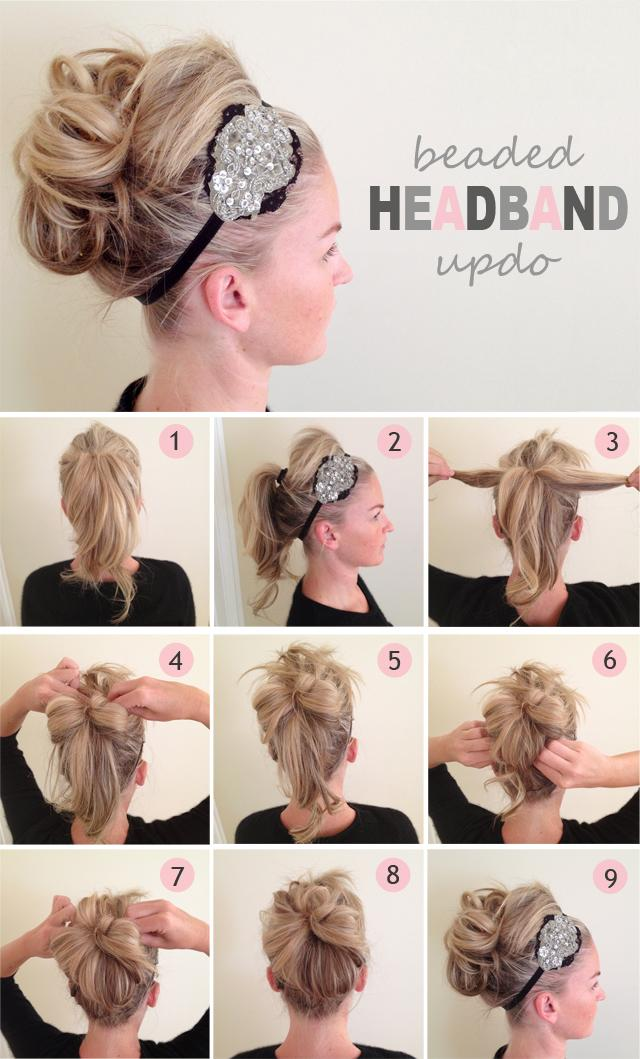 DIY Beaded Headband Updo Hairstyle Do It Yourself Fashion Tips | DIY