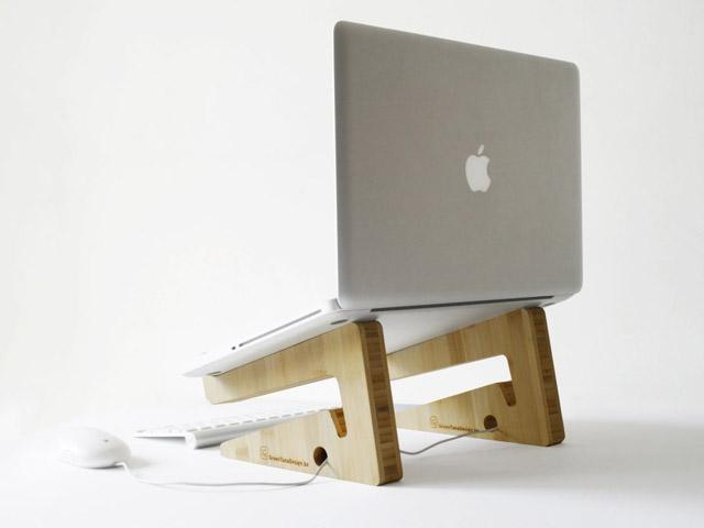 Bamboo Puzzle Laptop Stand | FancyCrave
