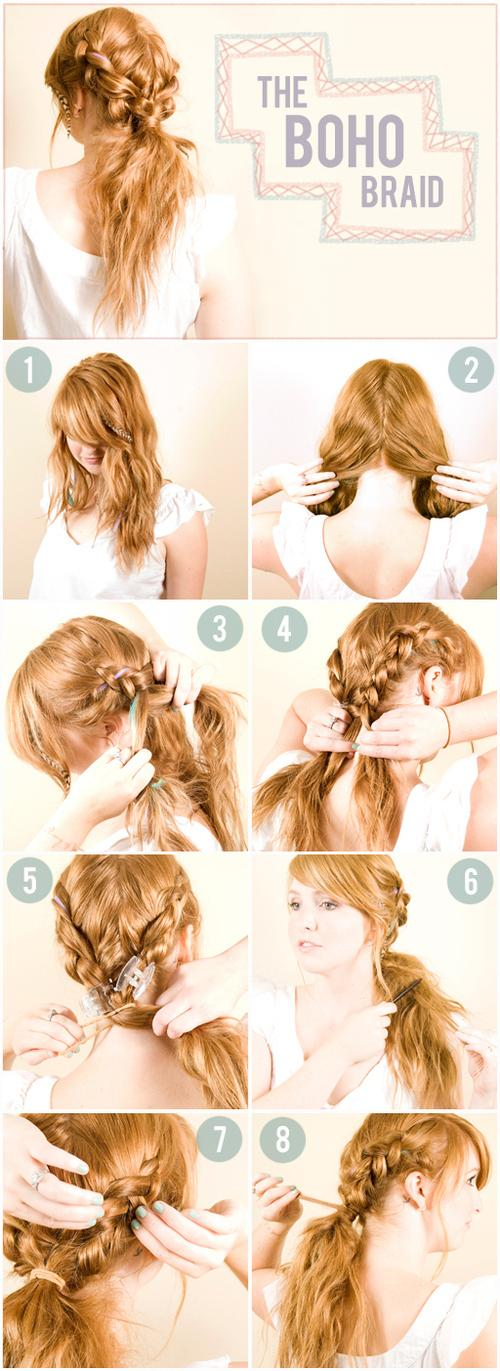 Diy Double Boho Braid Hairstyle Do It Yourself Fashion Tips Diy Fashion Projects 238326 On