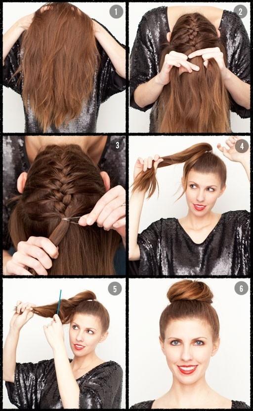 Diy elegant ballerina braid bun for long hair hairstyle do it diy elegant ballerina braid bun for long hair hairstyle do it yourself fashion tips diy solutioingenieria Images