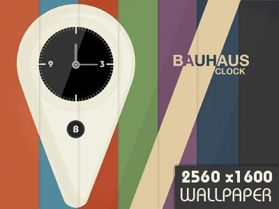Bauhaus Clock Wallpaper by Maleika E. A.