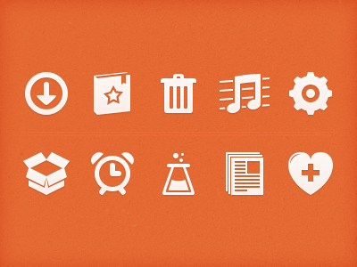Orange Icons by Matthew Skiles