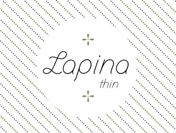 Lapina and Lapina thin on Typography Served