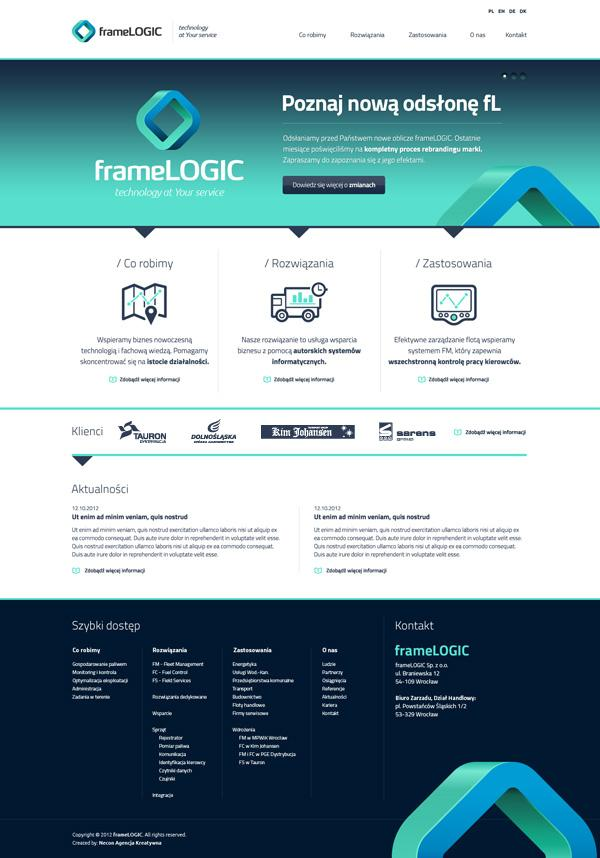 frameLOGIC / Rebranding on Web Design Served