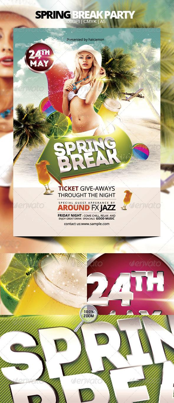 Print Templates - Spring Break Party | GraphicRiver