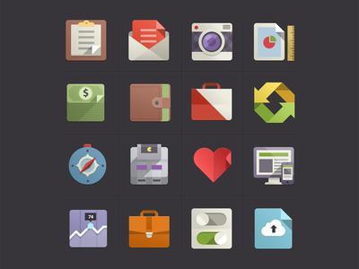 Flat Design Icons Set Vol1 by Pixeden