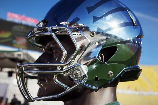 Oregon Ducks Rose Bowl Chrome Helmet | Hypebeast