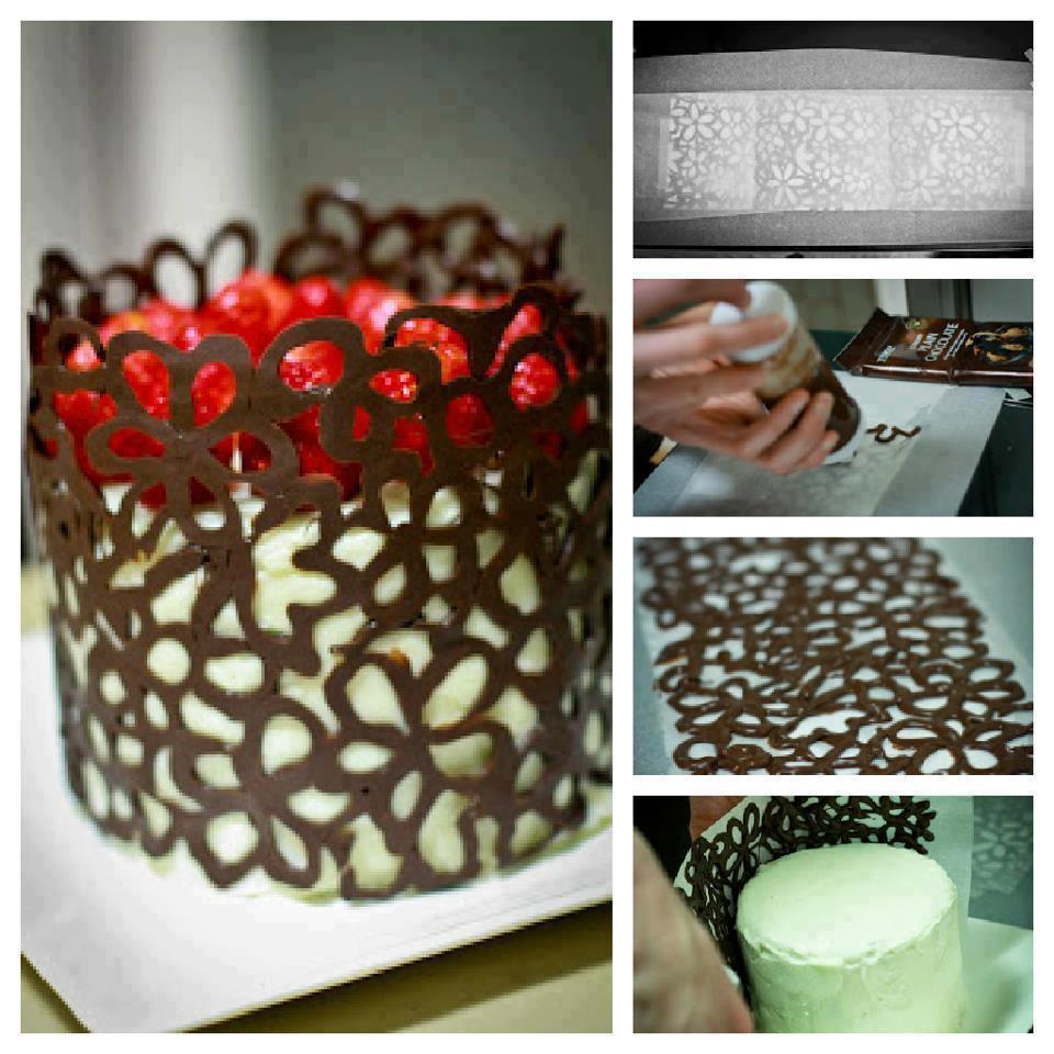 Как сделать из шоколада украшение на торт