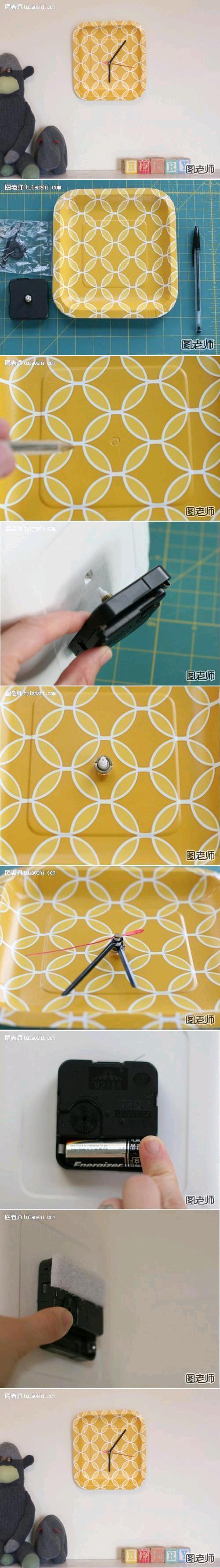 DIY Paper Plate Clock DIY Projects   UsefulDIY.com