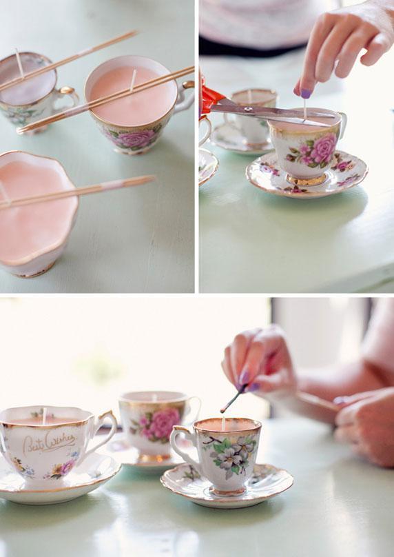Une bougie dans une tasse | DIY Loisirs Créatifs My Diy