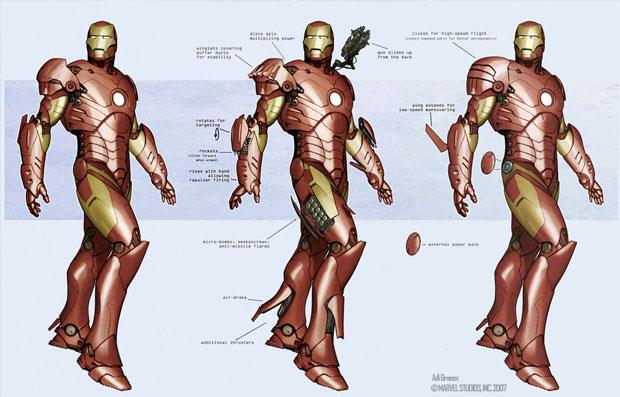 Concept Art World » Iron Man Concept Art by Adi Granov