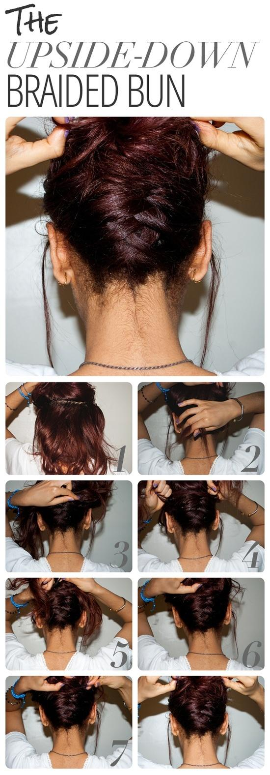 Diy upside down braided bun hairstyle do it yourself fashion tips diy fashion projects 241172 Diy fashion of hairstyle