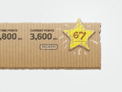 Cardboard Ui Star by Ryan Putnam