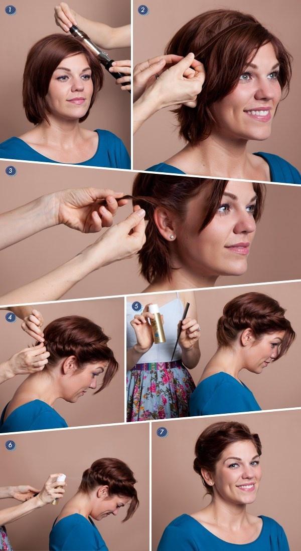 Быстрая и простая прическа для коротких волос