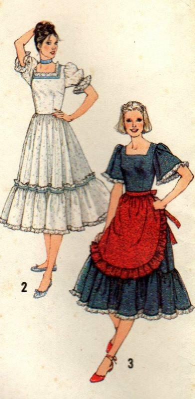 Vintage Simplicity 9103 Square Dance Dress Farmers by sandmarg