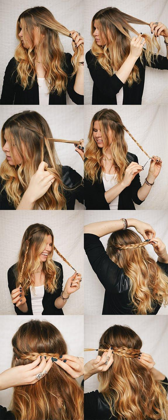 Diy half up braided crown hairstyle do it yourself fashion tips diy fashion projects 242899 Diy fashion of hairstyle