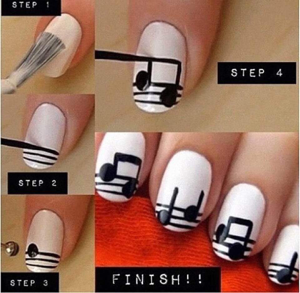 Diy music notes nail art diy projects for Diy music projects