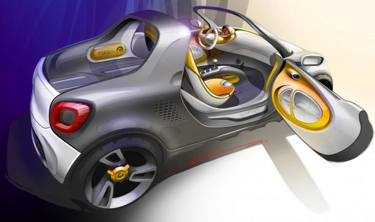 smart for-us concept puts a mega-pickup spin on the fortwo - Image 1 of 6