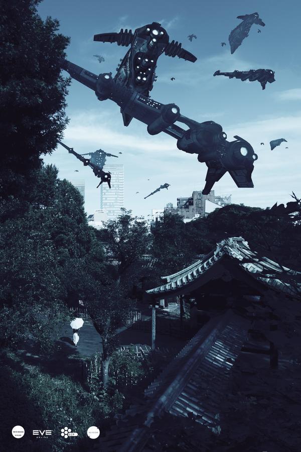 Tokyo Invasion - Eve-Online on Digital Art Served