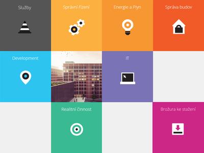 Icon set for website by Pavel Novák