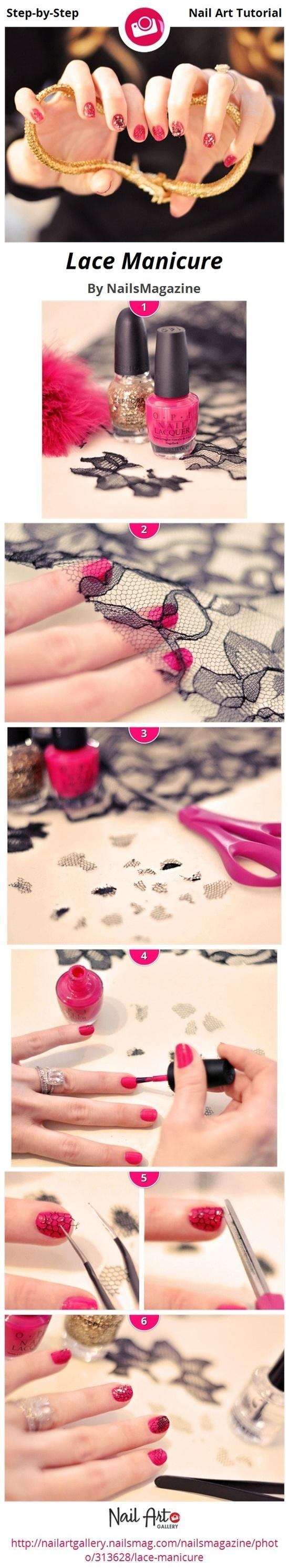 Diy lace nail design do it yourself fashion tips diy fashion diy lace nail design do it yourself fashion tips diy fashion projects solutioingenieria Images
