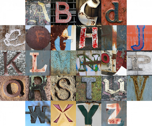 Rusty and crusty letters | Flickr - Photo Sharing!