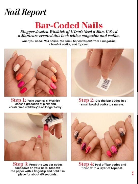Nail designs do it yourself at home stunning nail designs you can affordable diy bar coded nail design do it yourself fashion tips diy fashion projects solutioingenieria Gallery