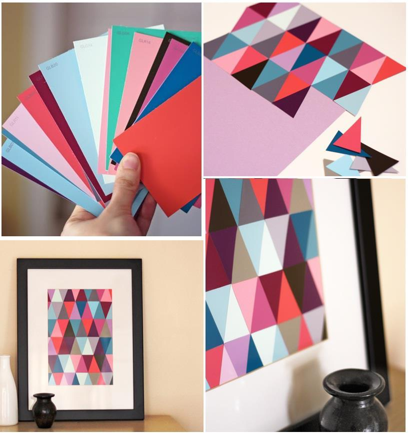 diy paint chip wall art diy projects usefuldiy