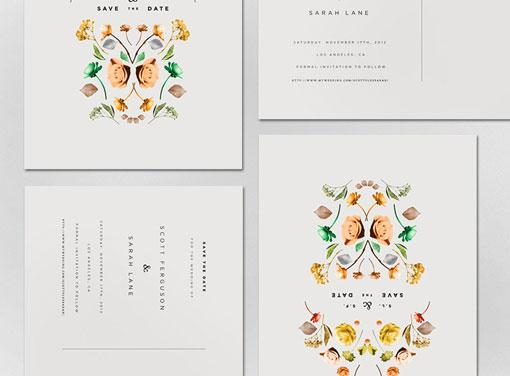 Design Work Life » Lisa Hedge: Sarah & Scott Wedding Annoucement