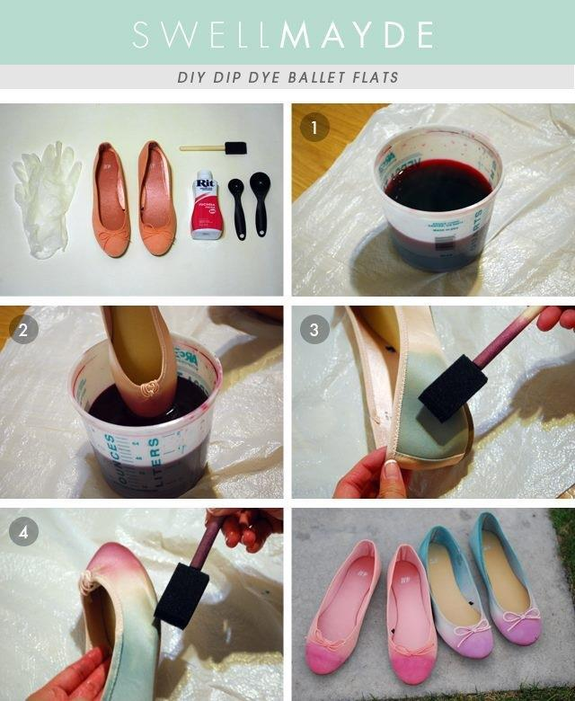 DIY Dip Dye Ballet Flats DIY Projects | UsefulDIY.com