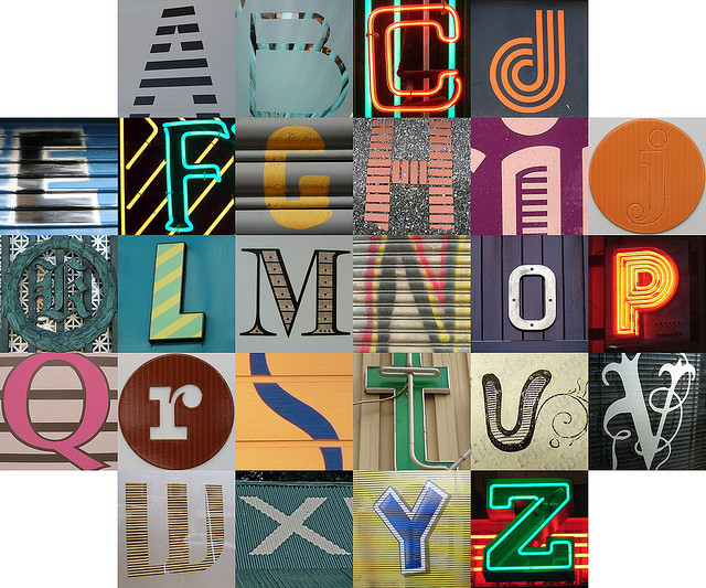 Striped letters | Flickr - Photo Sharing!