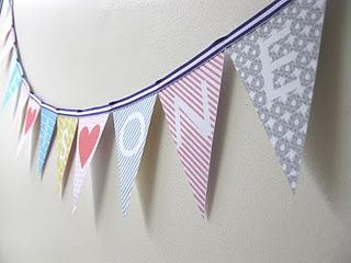 on top of a lily pad: My Creative Space....bunting, bunting