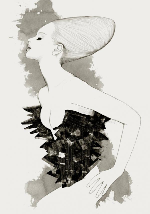 Fashion Illustrations by Will Ev | Cuded