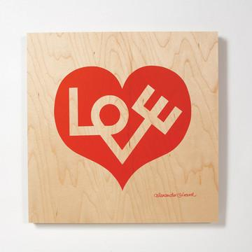 Fab.com | Love Heart Panel Large