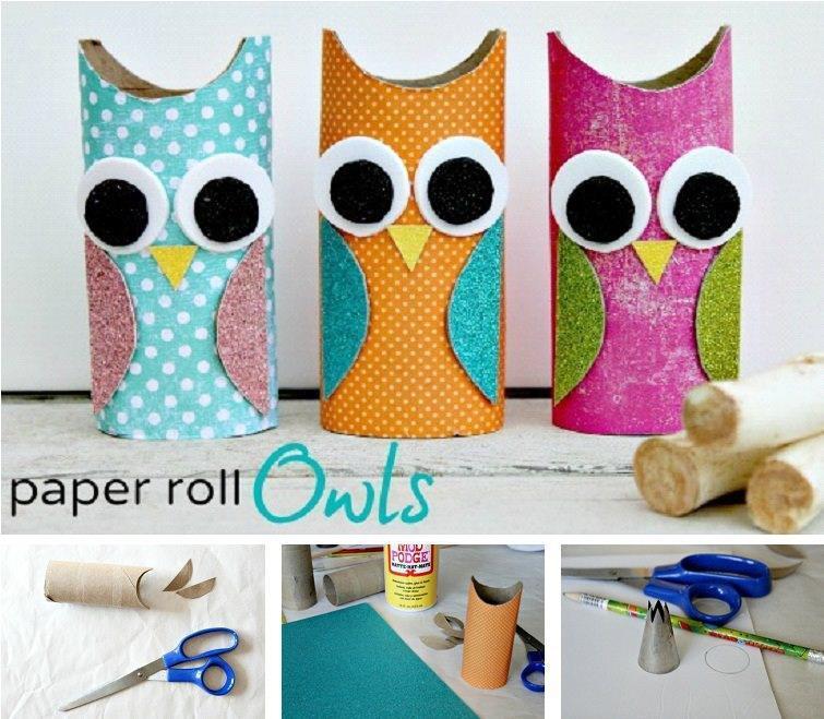 DIY Paper Roll Owls DIY Projects | UsefulDIY.com