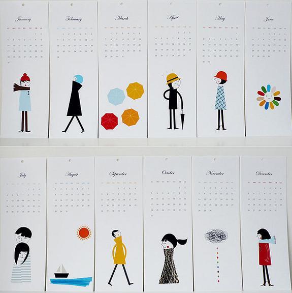 35 Creative Calendar Design Inspiration | The Design Work