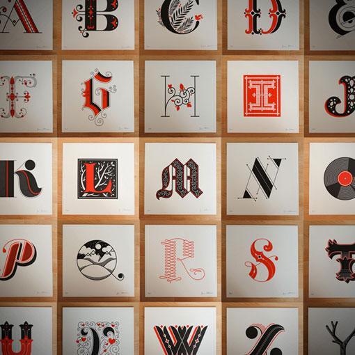 design work life » Letterpress Alphabet Prints