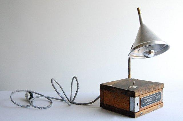 Fancy - CONSTANT HEIGHT handcrafted industrial desk lamp by fishtail45