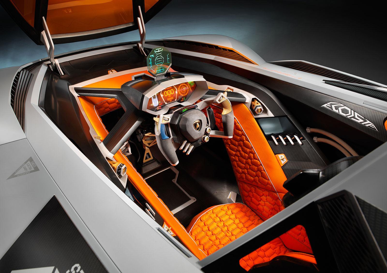 Lamborghini Egoista Concept Interior - Car Body Design